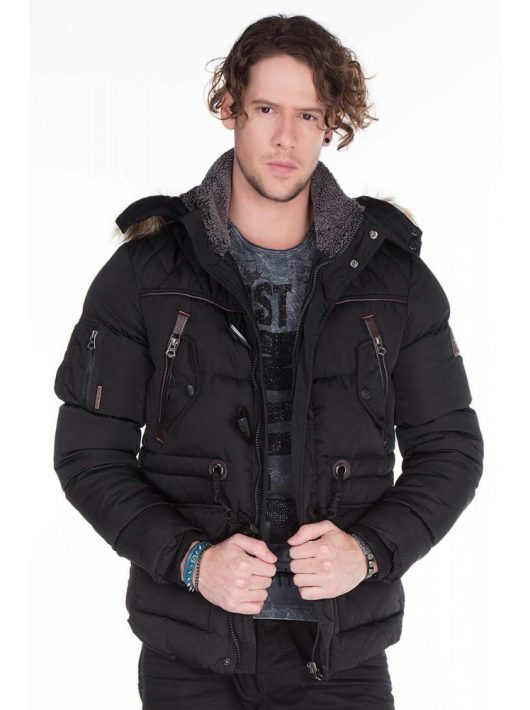 Cipo & Baxx férfi kabát CM107 BLACK