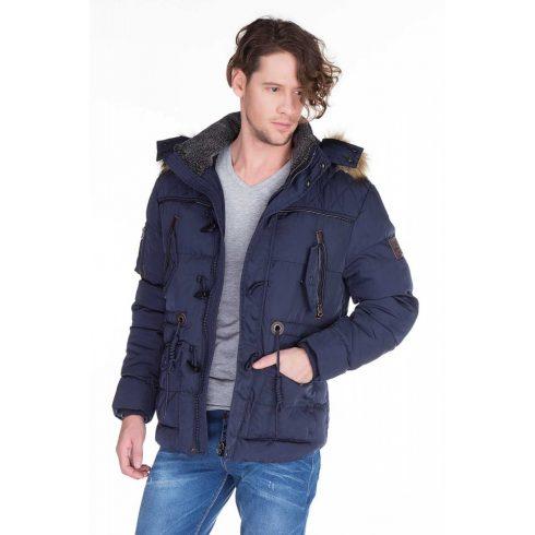 Cipo & Baxx férfi téli kabát CM107 NAVY BLUE