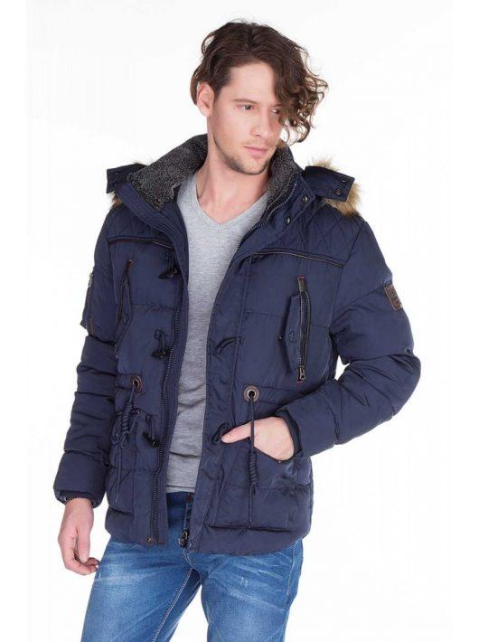 Cipo & Baxx férfi télikabát CM107 NAVY BLUE