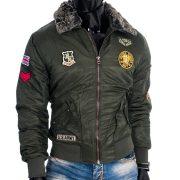 Cipo & Baxx divatos férfi télikabát CM108KHAKI
