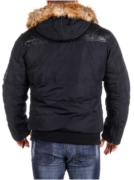 Cipo & Baxx divatos férfi kabát CM120 BLACK