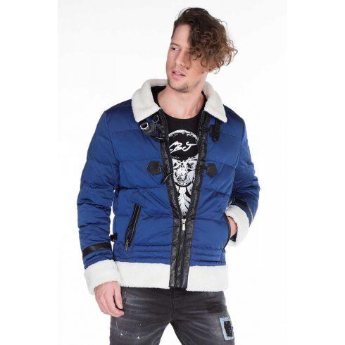 Cipo & Baxx prémium férfi kabát CM121 BLUE
