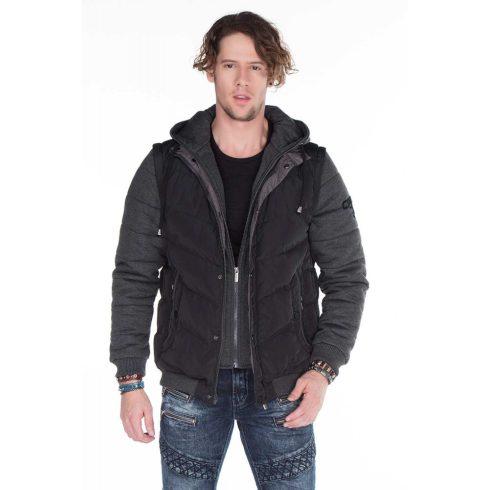 Cipo & Baxx fekete kabát CM126 BLACK