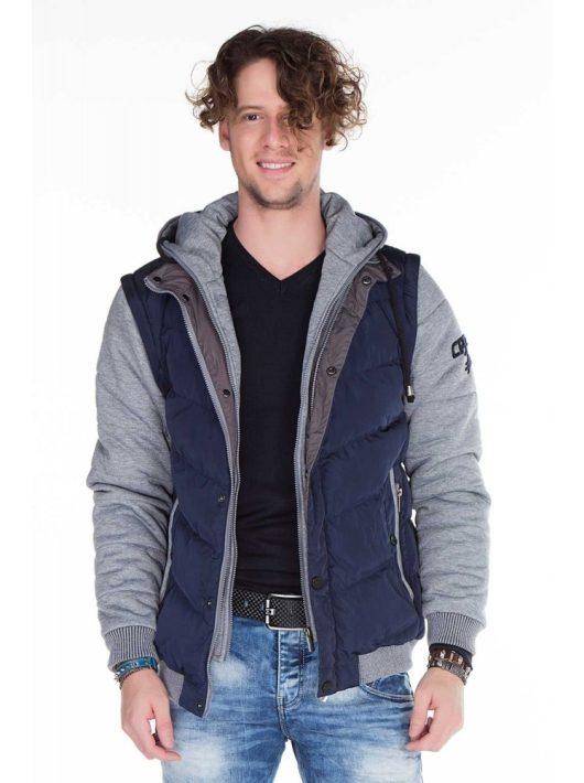Cipo & Baxx navy blue kabát CM126 NAVY BLUE