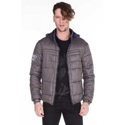 Cipo & Baxx divatos szürke kabát CM127GREY