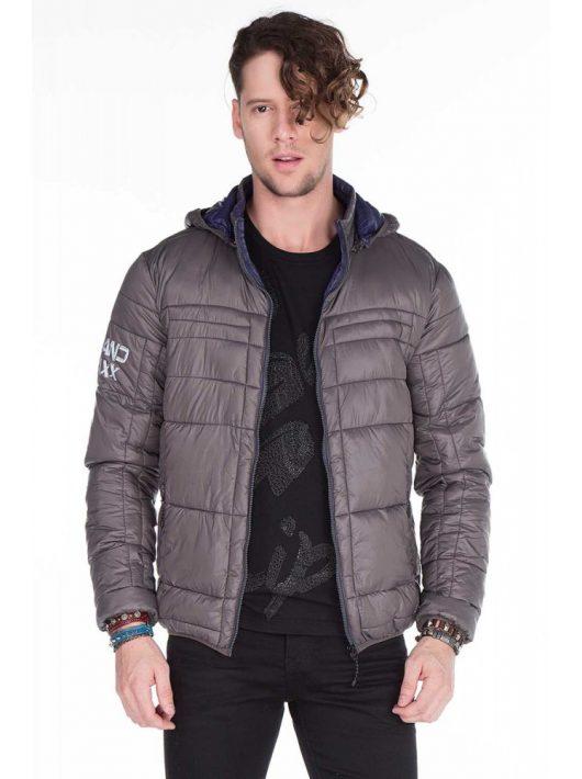 Cipo & Baxx divatos szürke kabát CM127