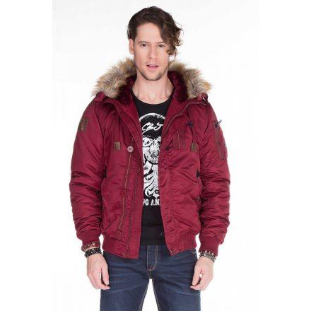 Cipo & Baxx Burgundy jacket CM128 BURGUNDY