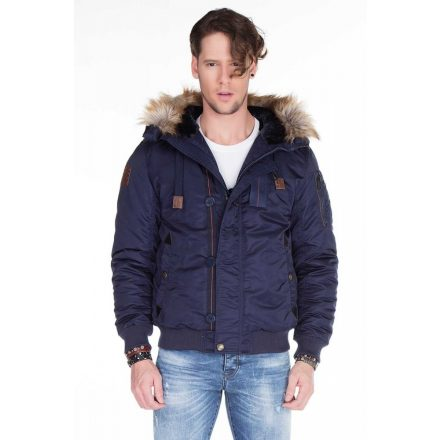 Cipo & Baxx fashionable navy blue jacket CM128 NAVY BLUE