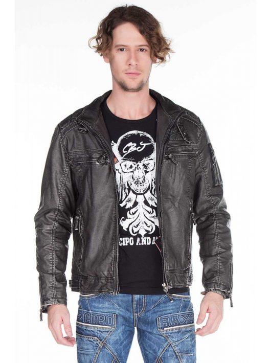 Cipo & Baxx férfi műbőr kabát CM129