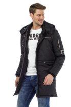 cipo&baxx fekete téli kabát