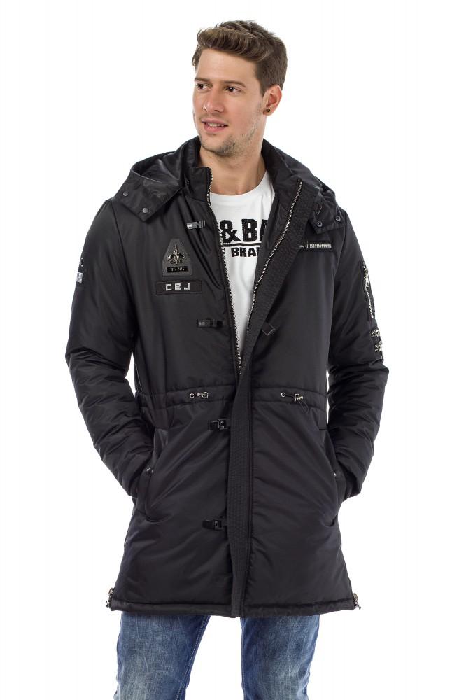 42b0a86ac9 Cipo & Baxx fekete téli kabát - Cipo & Baxx Márkabolt