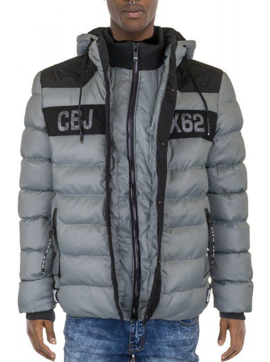 Cipo & Baxx vastag, vízálló kabát CM143DARKGREY