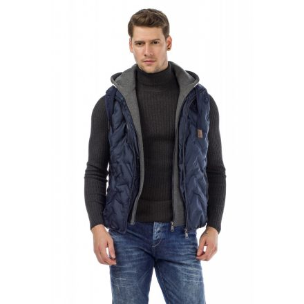 Cipo & Baxx men's vest CM151 NAVY BLUE