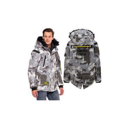 Cipo & Baxx divatos télikabát CM155WHITE