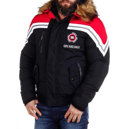 Cipo & Baxx divatos férfi télikabát CM158BLACK