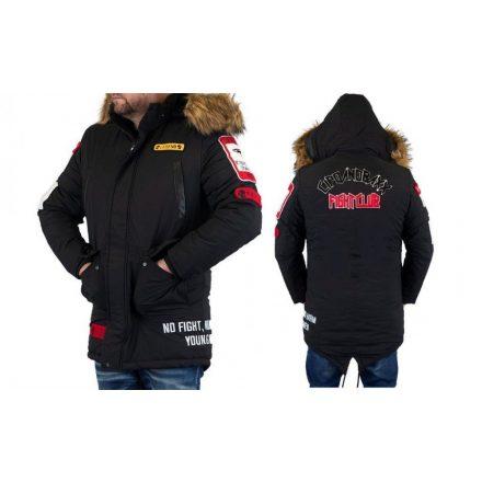 Cipo & Baxx divatos férfi télikabát CM159BLACK