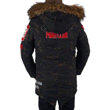 Cipo & Baxx divatos férfi télikabát CM159KHAKI