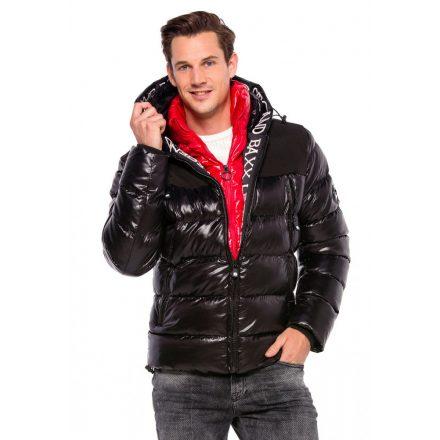 Cipo & Baxx divatos férfi télikabát CM160BLACK