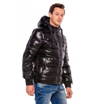 Cipo & Baxx divatos férfi télikabát CM161BLACK