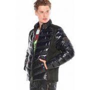Cipo & Baxx divatos férfi kabát CM171NAVYBLUE