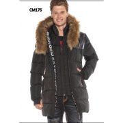 Cipo & Baxx vastag, vízálló kabát CM176BLACK