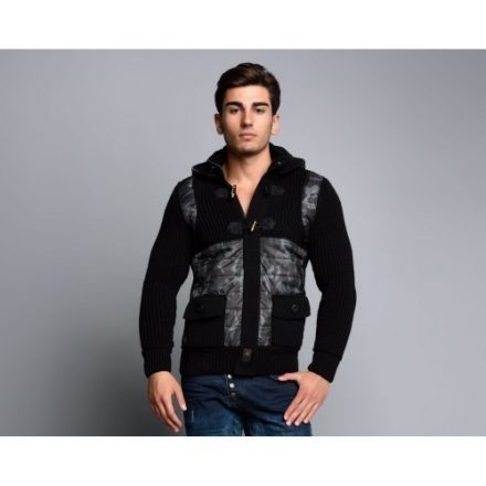 Cipo & Baxx fashionable men's knitted pullover CP104BLACK