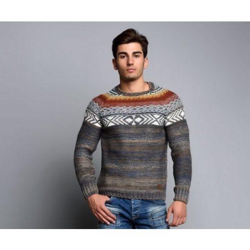 Cipo & Baxx divatos férfi kötött pulóver CP111CAMEL