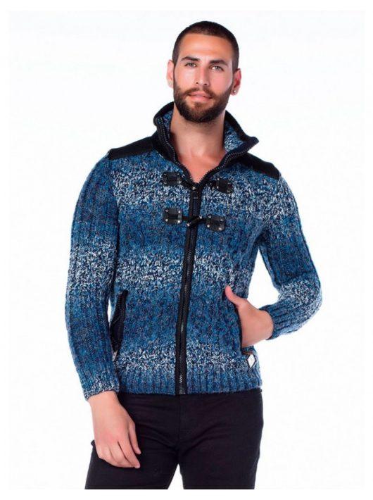 Cipo & Baxx divatos férfi kötött pulóver CP124BLUE