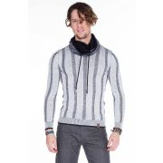 Cipo & Baxx fashionable white knitted pullover