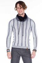 cipo&baxx divatos fehér kötött pulóver