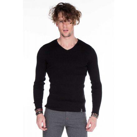 Cipo & Baxx divatos férfi kötött pulóver CP147BLACK