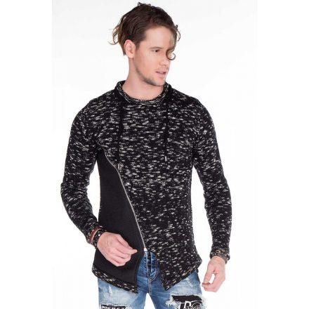 Cipo & Baxx férfi kötött pulóver CP150BLACK