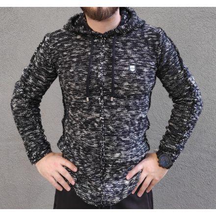 Cipo & Baxx fekete férfi kötött pulóver CP153BLACK