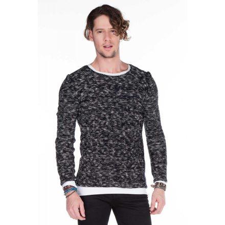 Cipo & Baxx prémium kötött pulóver CP158NAVYBLUE