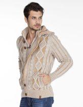 cipo&baxx bézs férfi kötött pulóver CP161 BEIGE