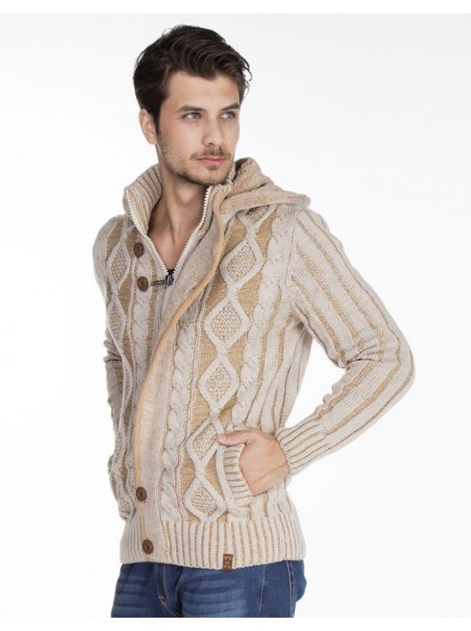 Cipo & Baxx fashionable men's knitted pullover CP161BEIGE