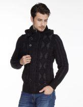 cipo&baxx fekete férfi kötött pulóver CP161 BLACK