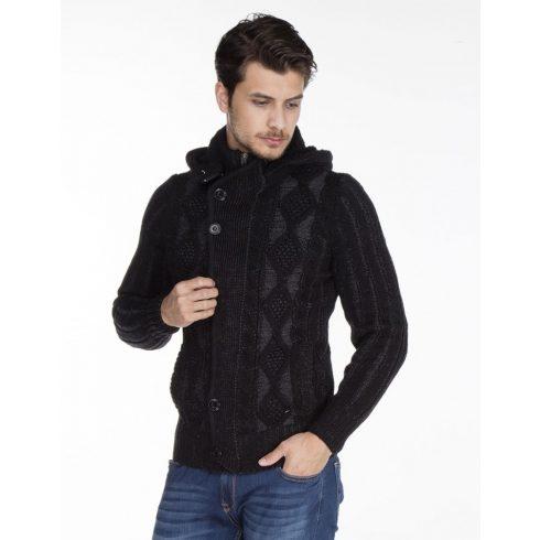 Cipo & Baxx divatos férfi kötött pulóver CP161BLACK