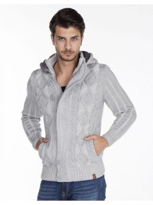 Cipo & Baxx divatos férfi kötött pulóver CP161GREY