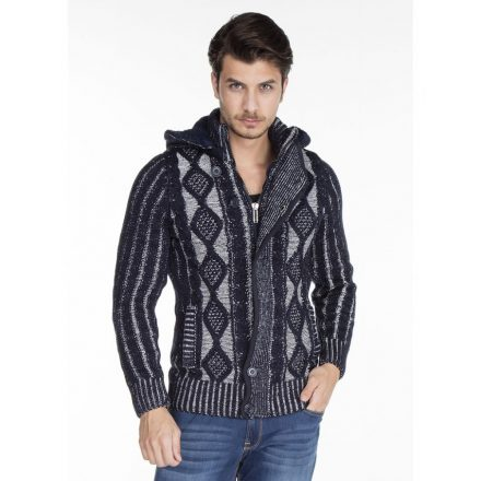 Cipo & Baxx fashionable men's knitted pullover CP161NAVYBLUE