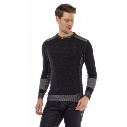 Cipo & Baxx fashionable men's knitted pullover CP172_ANTHRACITE