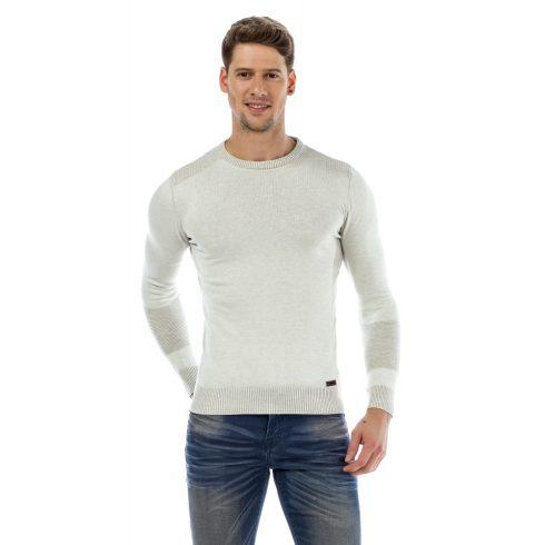 Cipo & Baxx divatos férfi kötött pulóver CP172_WHITE
