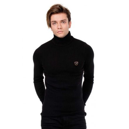 Cipo&Baxx divatos férfi kötött pulóver CP176BLACK