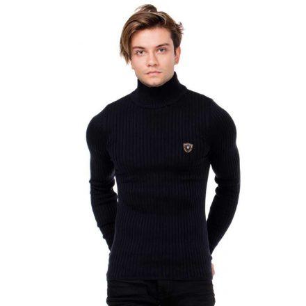 Cipo&Baxx divatos férfi kötött pulóver CP176DARKBLUE