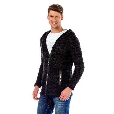 Cipo&Baxx divatos férfi kötött pulóver CP179BLACK