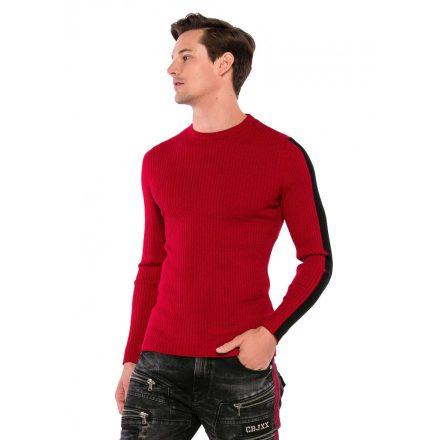 Cipo&Baxx divatos férfi kötött pulóver CP194RED