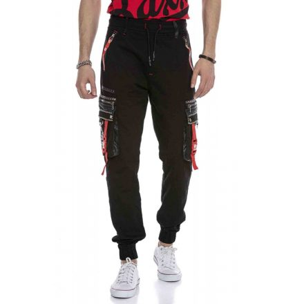 Cipo & Baxx divatos férfi melegítő nadrág CR132 BLACK