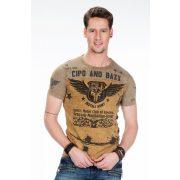 Cipo & Baxx fashionable mustard color T-shirt CT284 MUSTARD