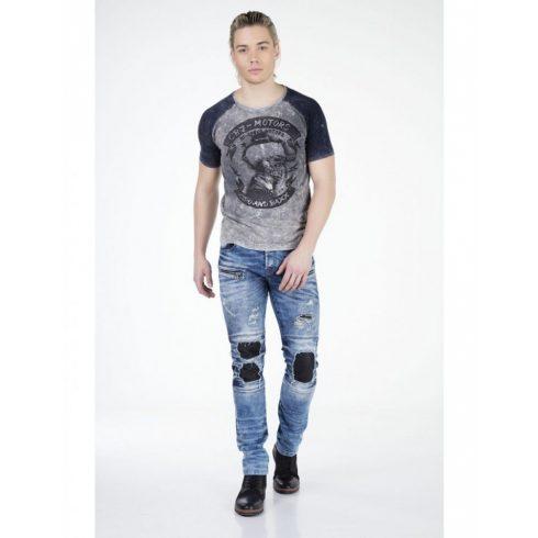 Cipo&Baxx divatos férfi póló CT299ANTHRACITE