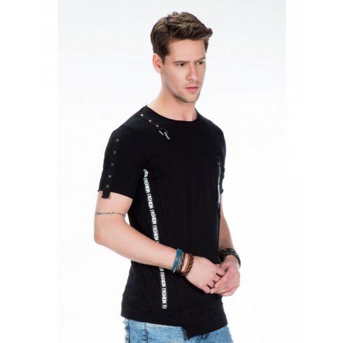 Cipo & Baxx fekete férfi divatos póló